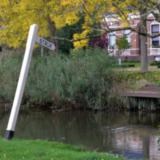 Strijkpaal bij de brug Bovendijks