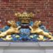 Wapensteen met twee schildhoudende leeuwen - ontwerper onbekend